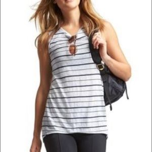 Athleta Striped Sleeveless Everyday Activewear Top